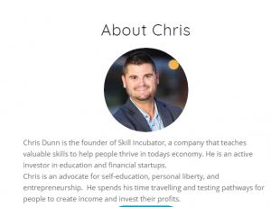 ChrisDunn skillincubator bitcoin