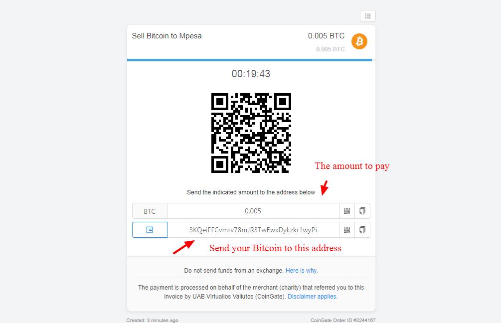 comment retirer du bitcoin sur mpesa
