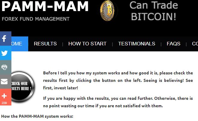 PAMM MAM review Forex Fund Management