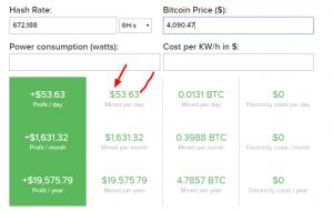 Bitcoin Mining Calculator 2019