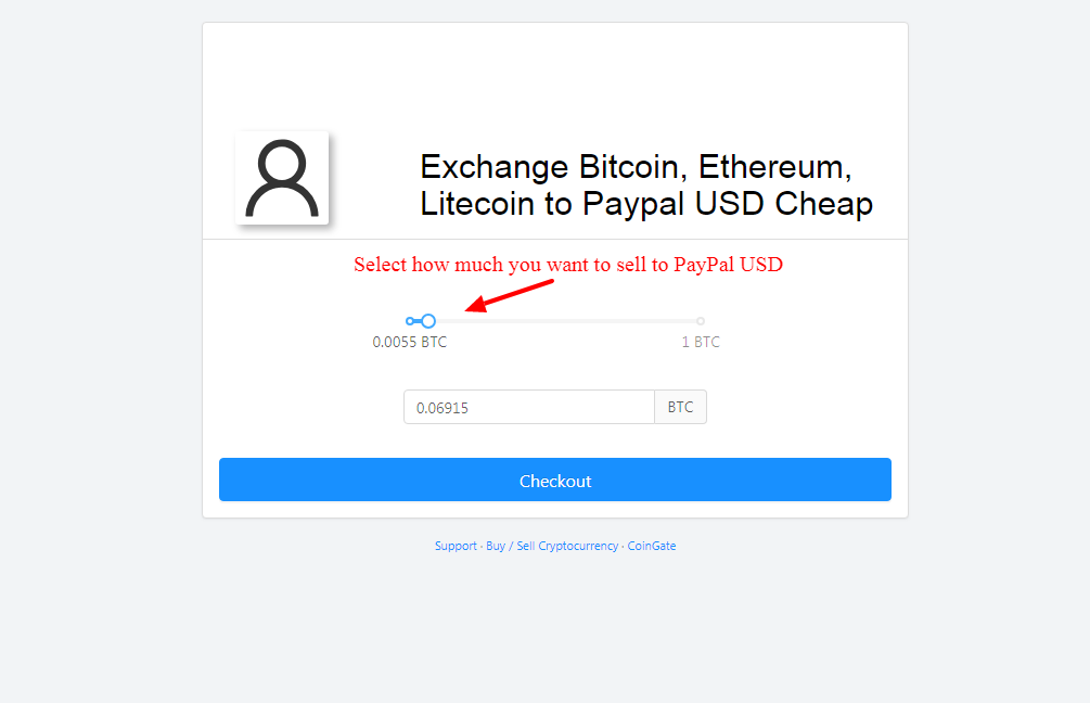sell Bitcoin to paypal dollars
